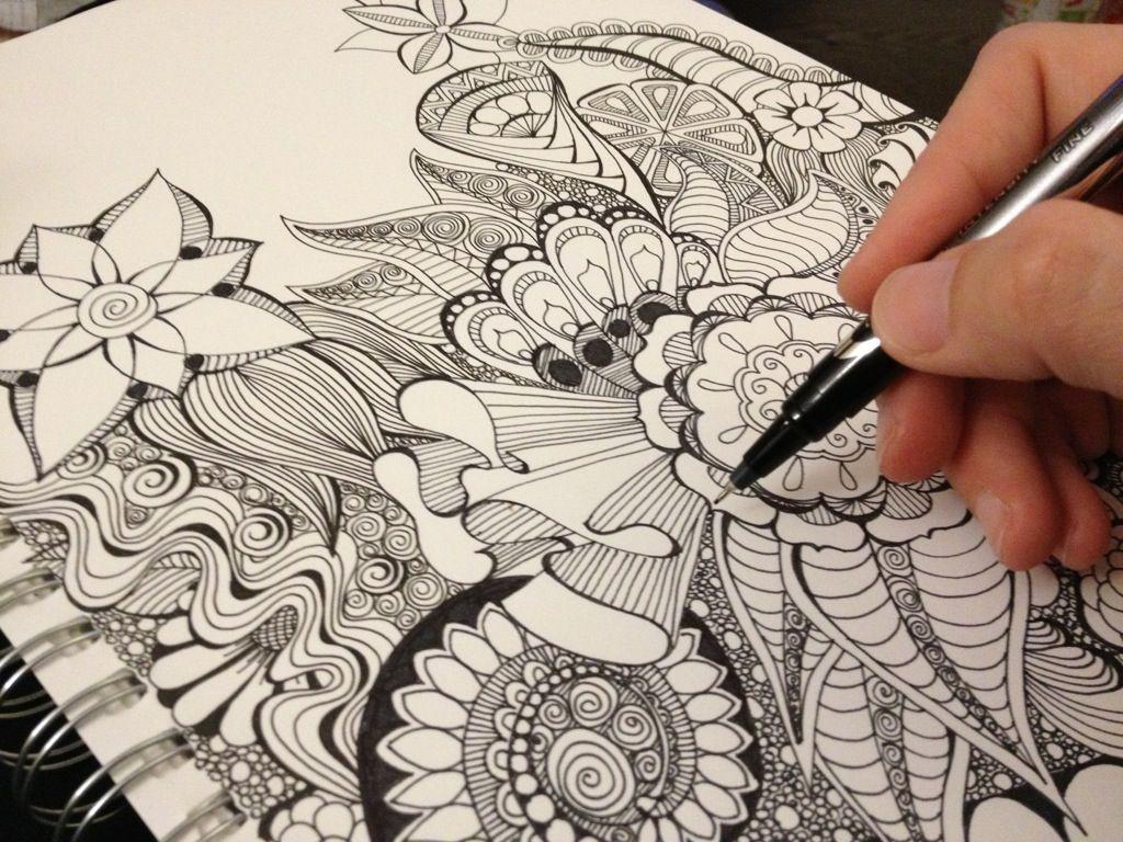 Intricate Doodle Zen Doodle Art Doodles Sharpie Art
