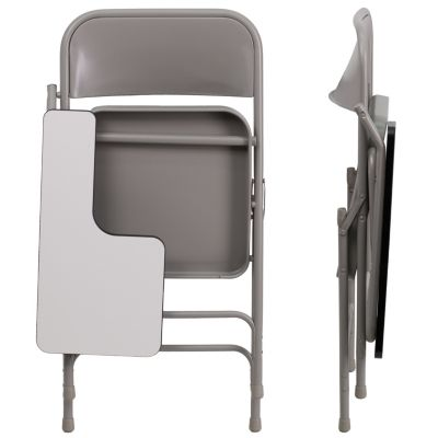 Pleasing Premium Steel Folding Chair With Right Handed Tablet Arm Alphanode Cool Chair Designs And Ideas Alphanodeonline