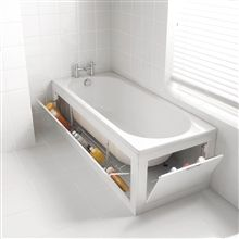 Storage Bath Front Panel Plain 1700mm Gloss White from