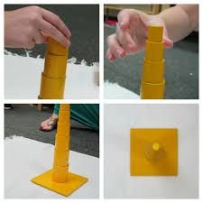 Image result for knobless cylinders montessori presentation