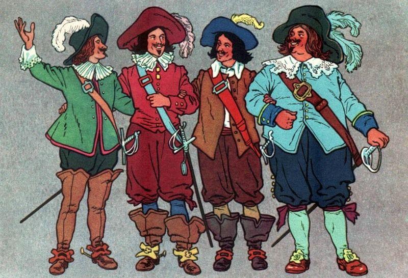 Три мушкетера веселые картинки, надписью ура лето