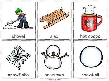 winter vocabulary cards freebie slp stuff vocabulary cards winter words speech language. Black Bedroom Furniture Sets. Home Design Ideas