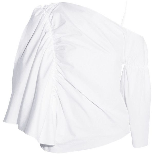 173ca89d99fbd J.W.Anderson Off-the-shoulder cotton-poplin top ( 381) ❤ liked on ...