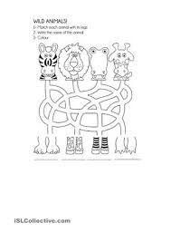 Image result for wild animals worksheet for kindergarten ...