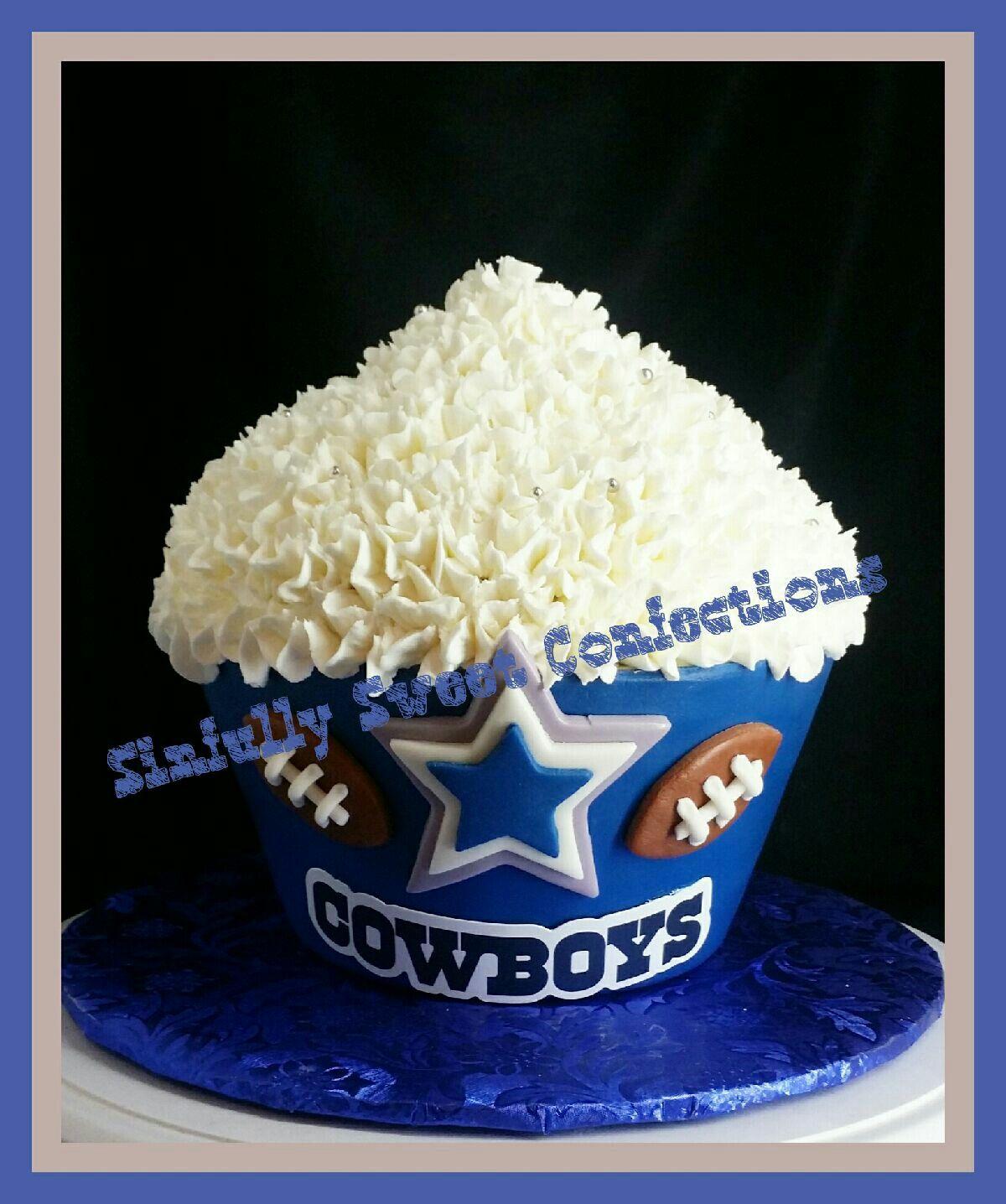 Dallas Cowboys Giant Birthday Cupcake
