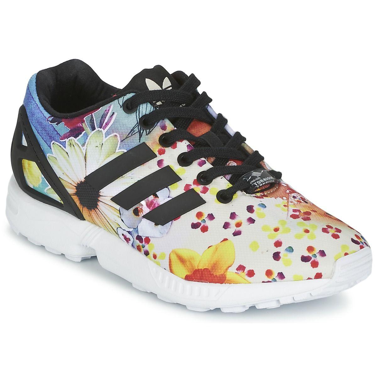 factory price 38eb4 69aa6 Baskets Adidas Originals ZX FLUX W Multicolore prix promo Baskets Femme  Spartoo 99.99 €