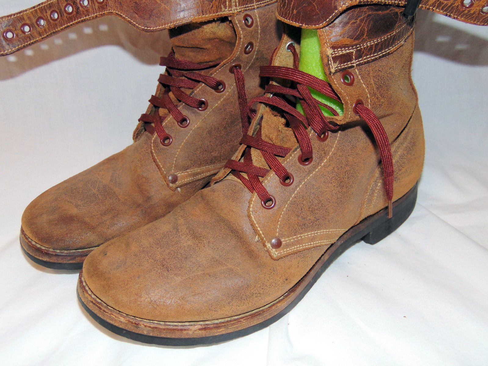 Paratrooper / Jump Boots. Man Size 8C. Military WWII Double Buckle. Brown leather featuring the double buckle shaft closure which provides great ankle support. The boots have very good soles and and overall are very clean. | eBay!