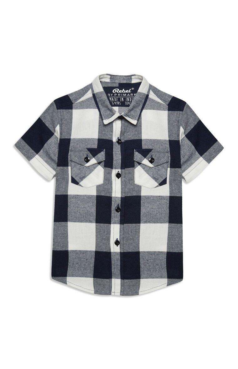 Zwart Wit Geruit Overhemd.Primark Zwart Wit Geruit Jongensoverhemd Primark Love Zwart