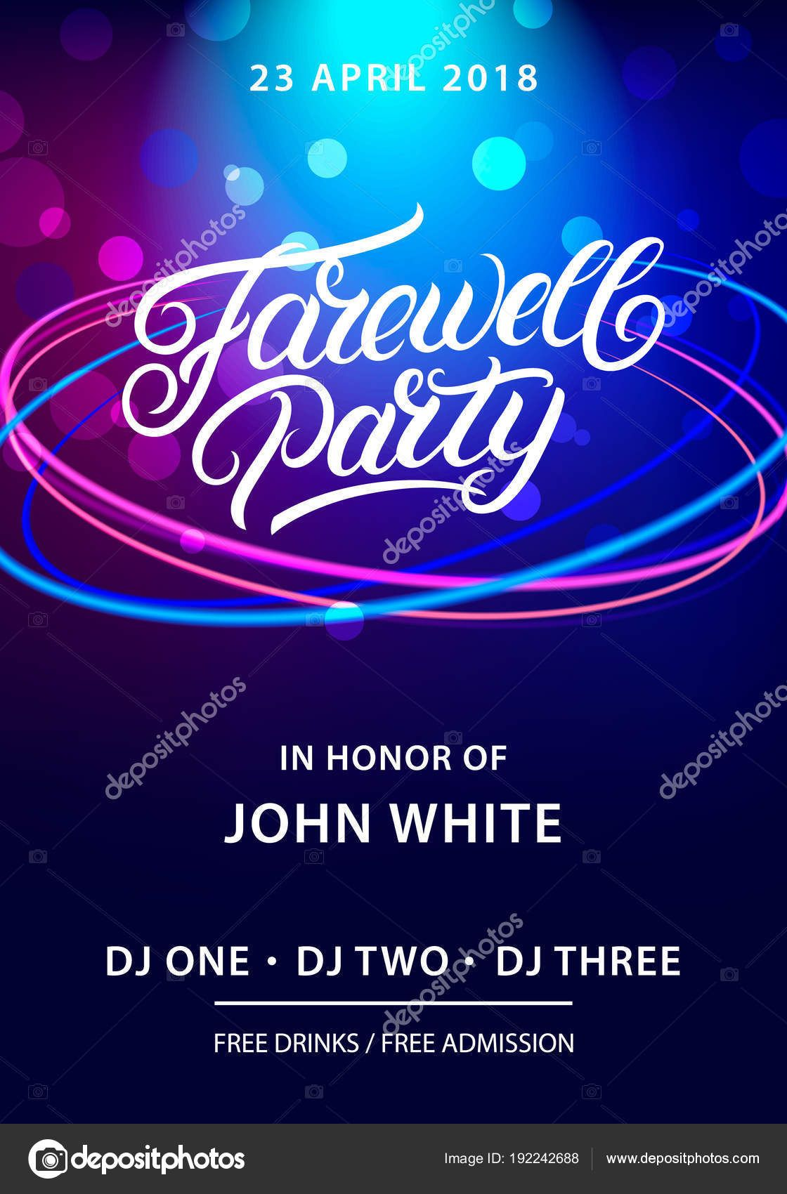 Farewell Party Hand Written Lettering Stock Vector With Farewell Invitation Card Templat Farewell Invitation Card Farewell Invitation Invitation Card Format