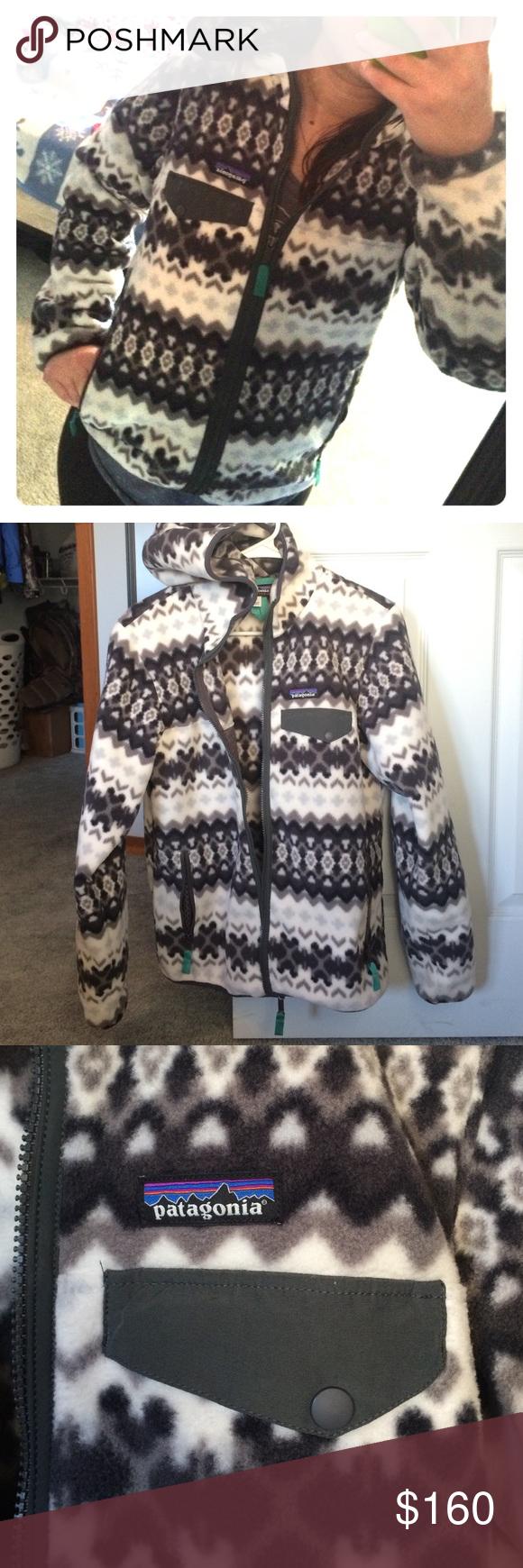 Like new womens fun print patagonia fleece jacket like new only