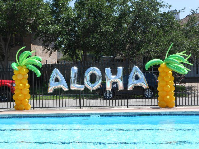 Aloha pool party decorations holiday and events pool - How to make a pool party ...