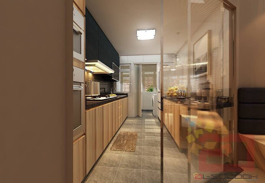 Glass Door For Closed Concept Kitchen!