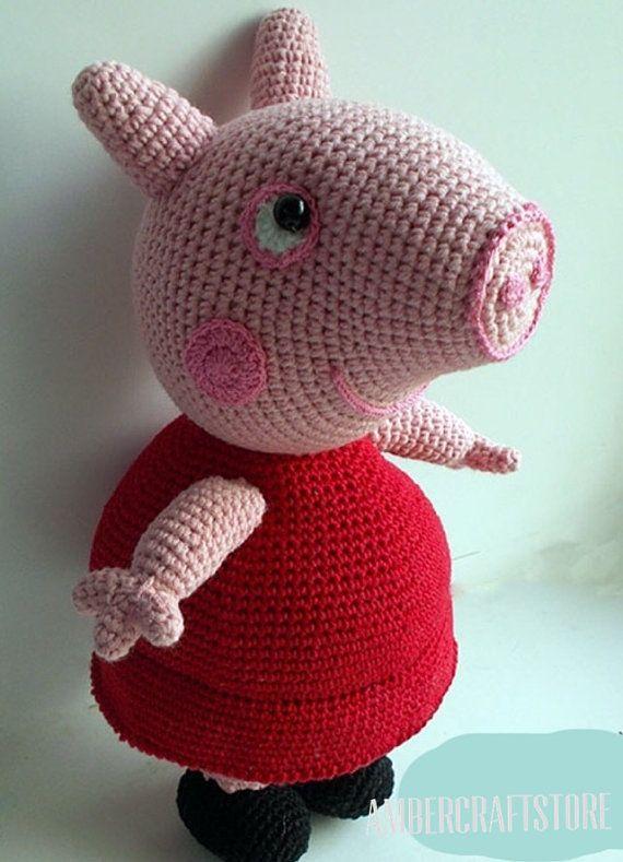 Peppa Pig Häkeln Spielzeug Pattern-Übersetzung von Ambercraftstore ...
