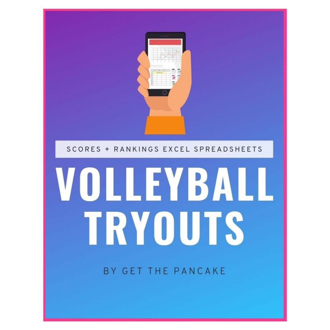 Volleyball Tryouts Scores Rankings Spreadsheets With Images Volleyball Tryouts Coaching Volleyball Volleyball