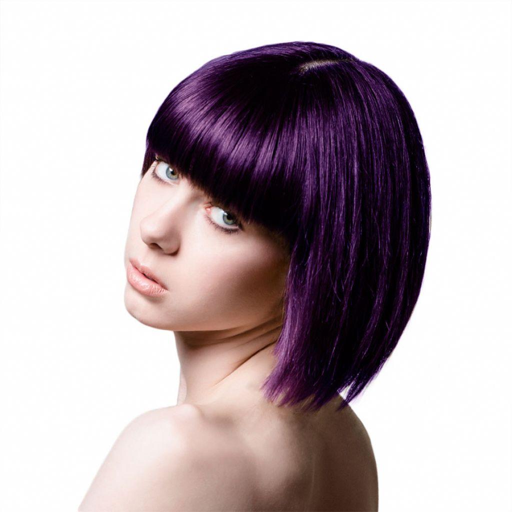 Image result for dark purple short hair Hair color plum
