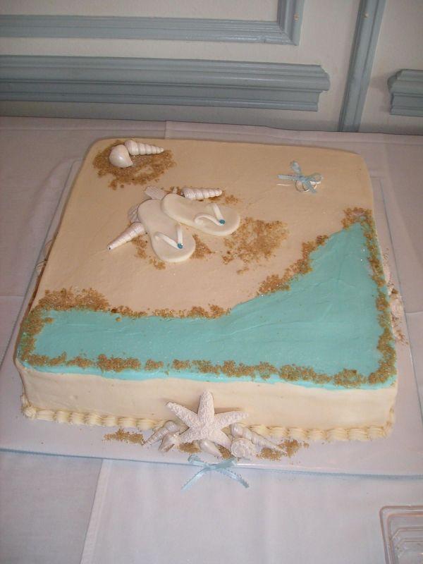 Beach Cake Bridal Shower Cake Topper Bridal Shower Cupcakes