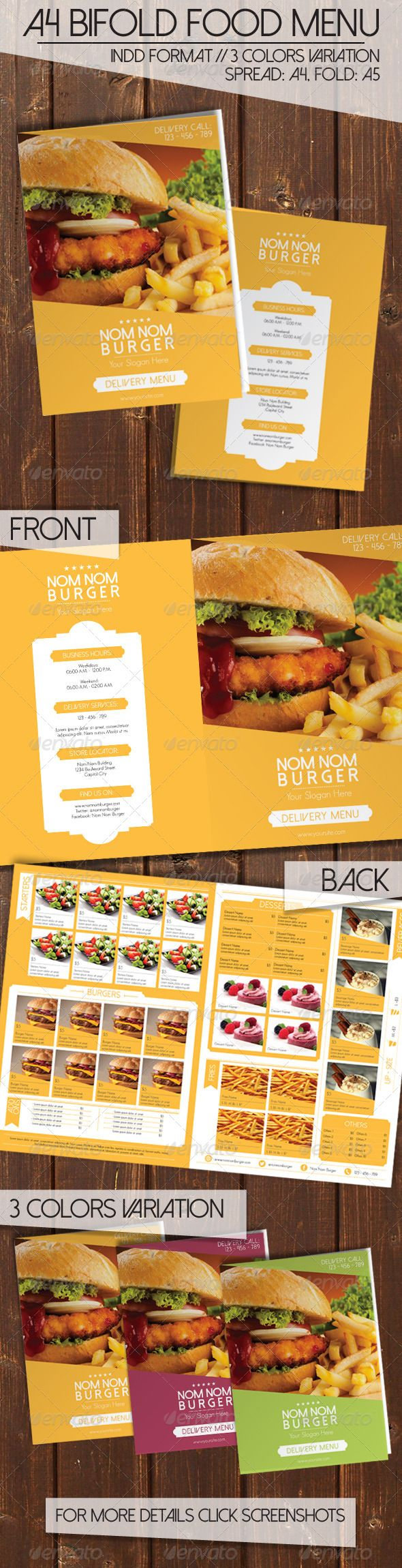 Bi Fold Food Menu Pinterest Food Menu Menu And Menu Templates - Delivery menu template