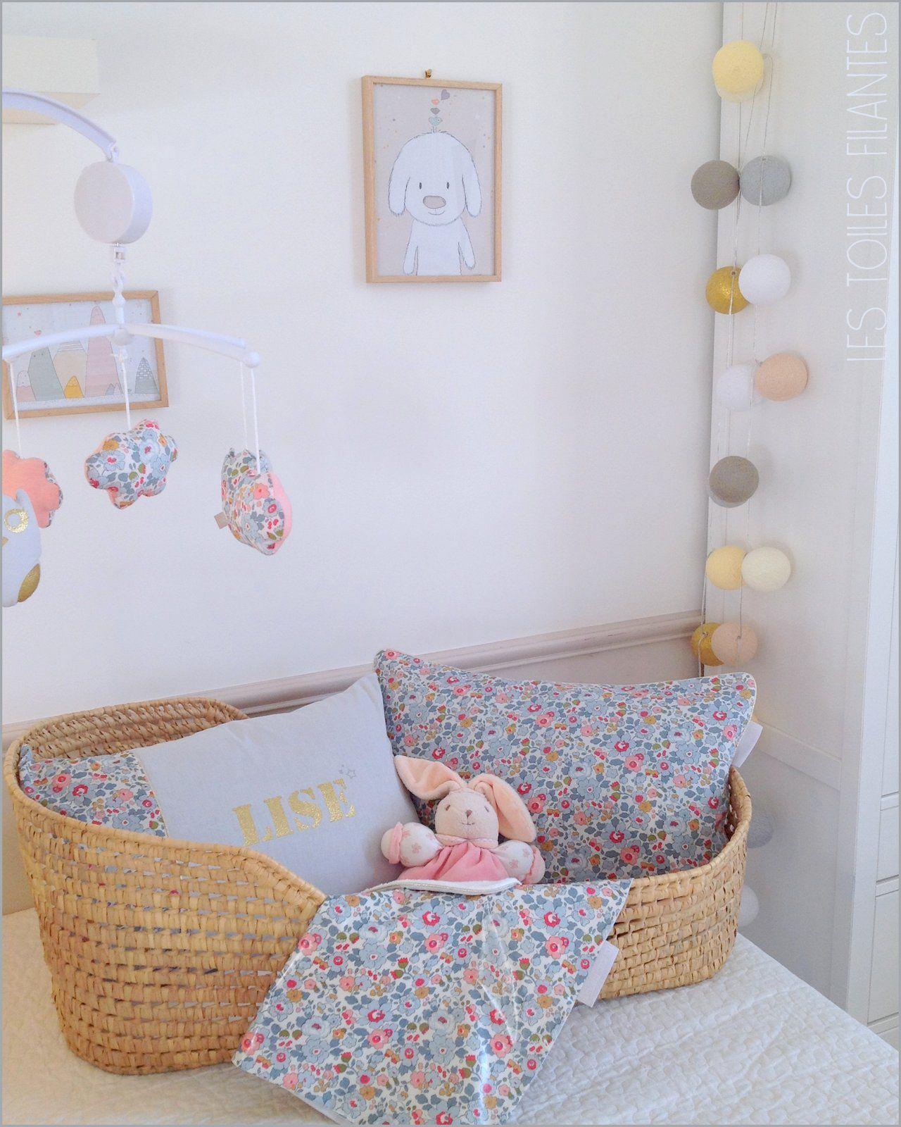 Déco chambre de bébé Liberty Betsy porcelaine Création Les