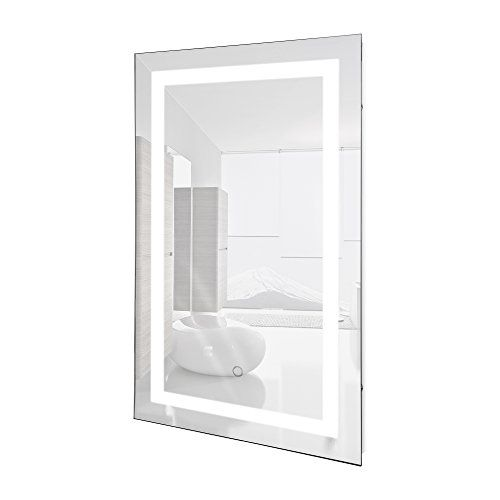 LED Lighted 24 X 36 Wall Mount Vanity Bathroom Mirror With Defogger Fog