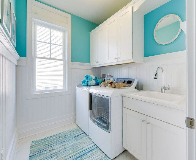 Cheerful Beach Cottage With Turquoise Color Scheme With Images