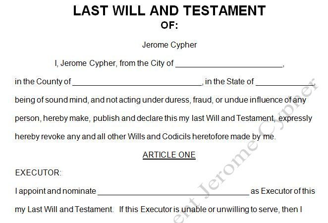 Printable Sample Last Will And Testament Form Online Attorney - last will and testament form