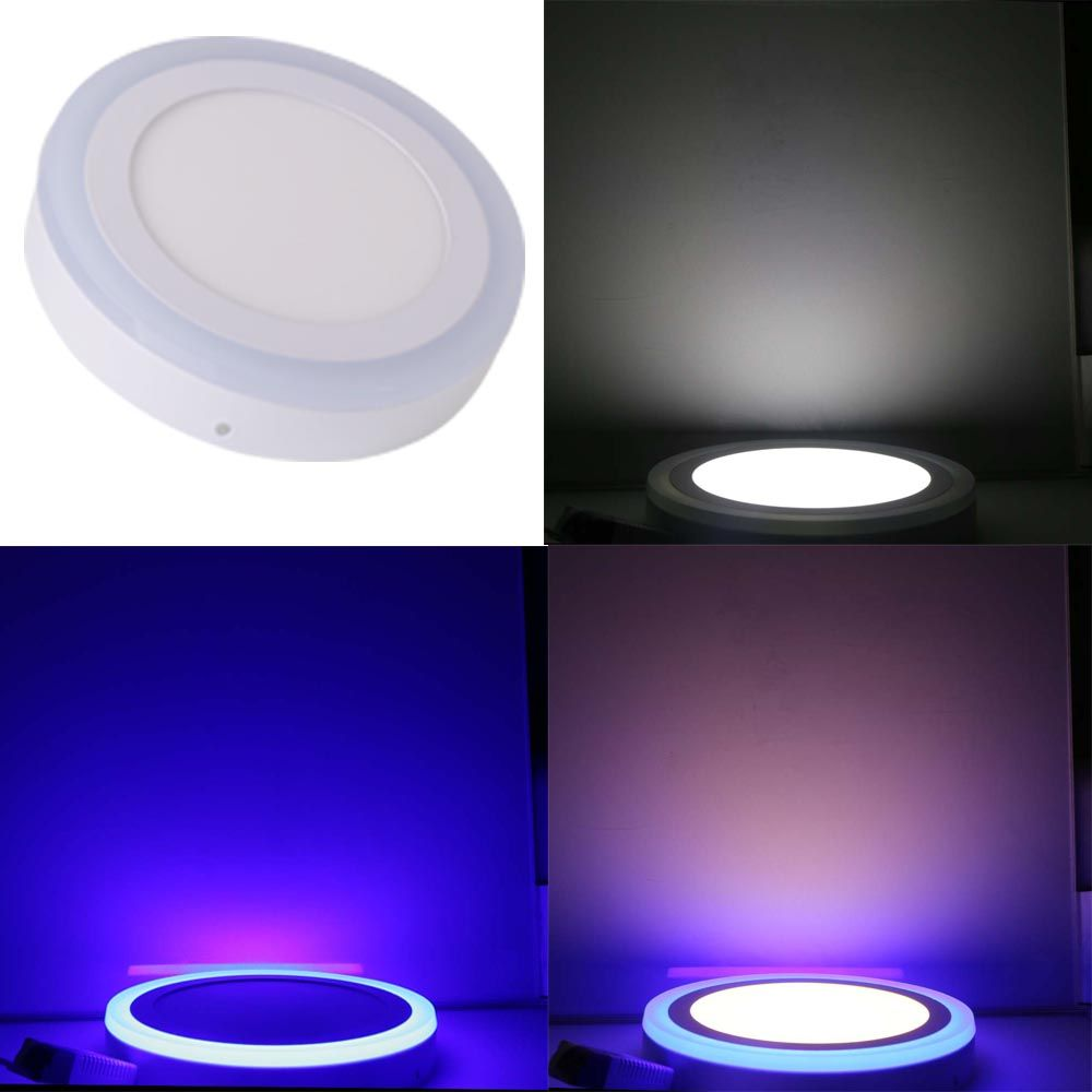 Led Double Color Panel Light 9w 16w 24w Round Square Surface Mounted Downlight Lighting Led Ceiling Down Ac85 265v F Led Panel Light Ceiling Lights Led Ceiling