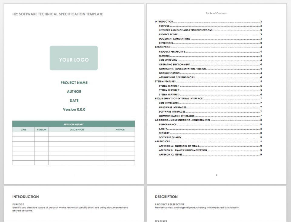 Software Requirements Document Template Elegant software