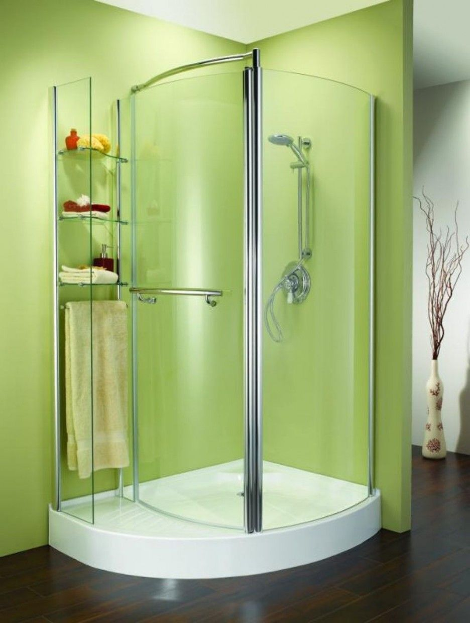 Good Looking Pictures Of Bathroom Decoration Using Shower Stall ...