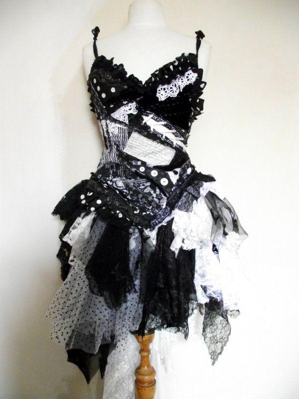 Monochrome dress. £195.00 from NaturallyBohemian via Etsy.
