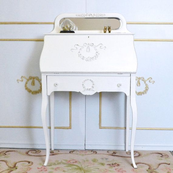 Shabby Cottage Chic Secretary Desk with Drop by TheBellaCottage