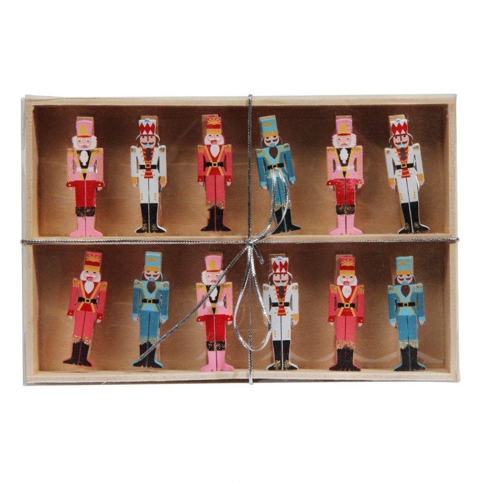 Nutcracker Christmas card pegs - set of 12 | Nutcrackers | Pinterest ...