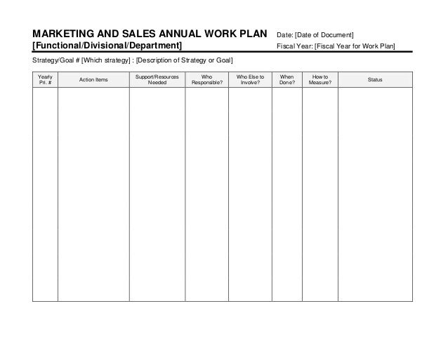 Image result for training work plan template LN REcipes - marketing action plan template