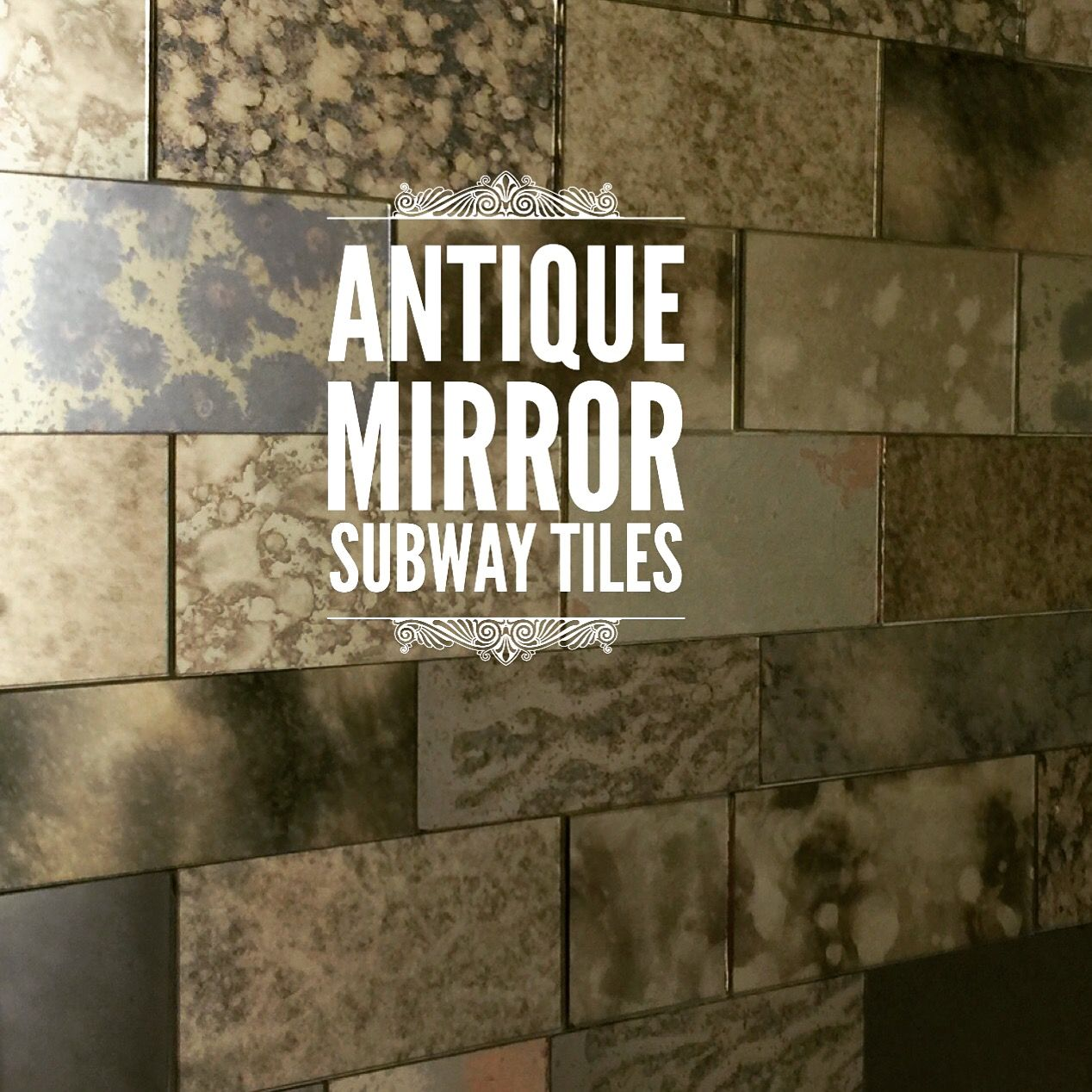 Antique Mirror Tiles For Wall. . Antique Mirror Tile Feature Wall ...