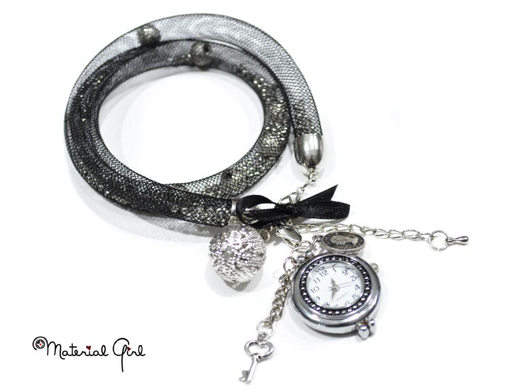 Armband Uhr Aus Krenolin Schlauch Mit Perlen Made By Wwwmilo Shop