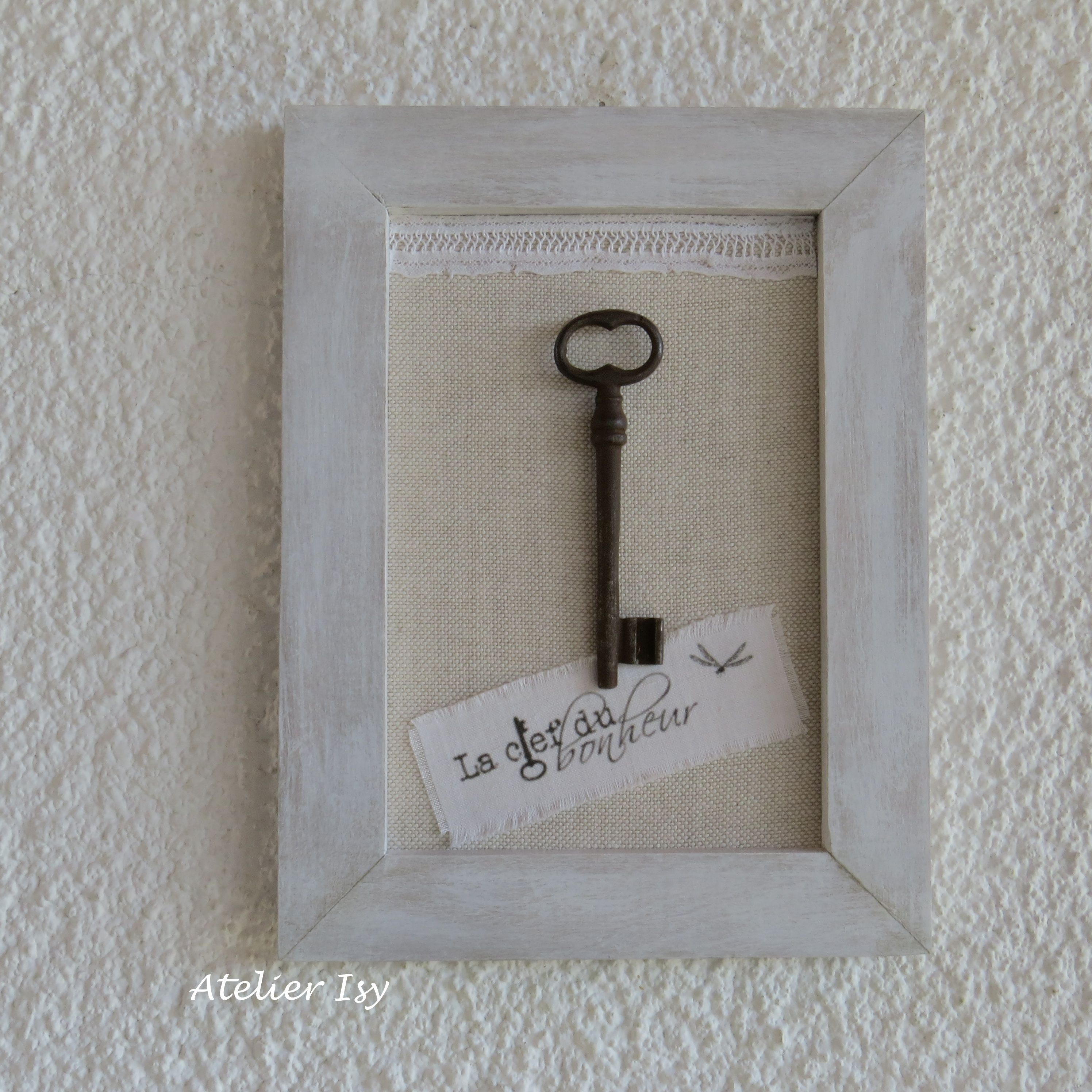 Quadro Con Chiave Vintage E Iuta Wall Frame Burlap And Old Key Cadre Avec Clef Ancienne My