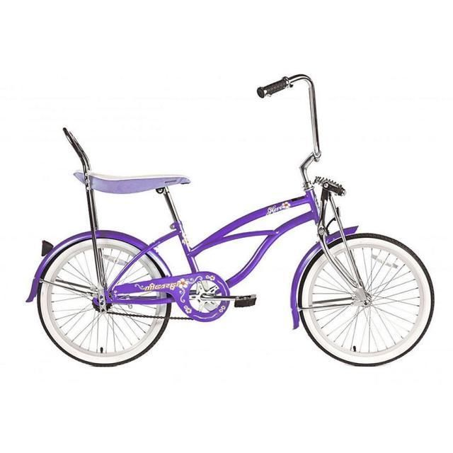 Girls PURPLE Micargi HERO 20-Inch Bicycle Bike Banana Seat New Free  Shipping. Featuring