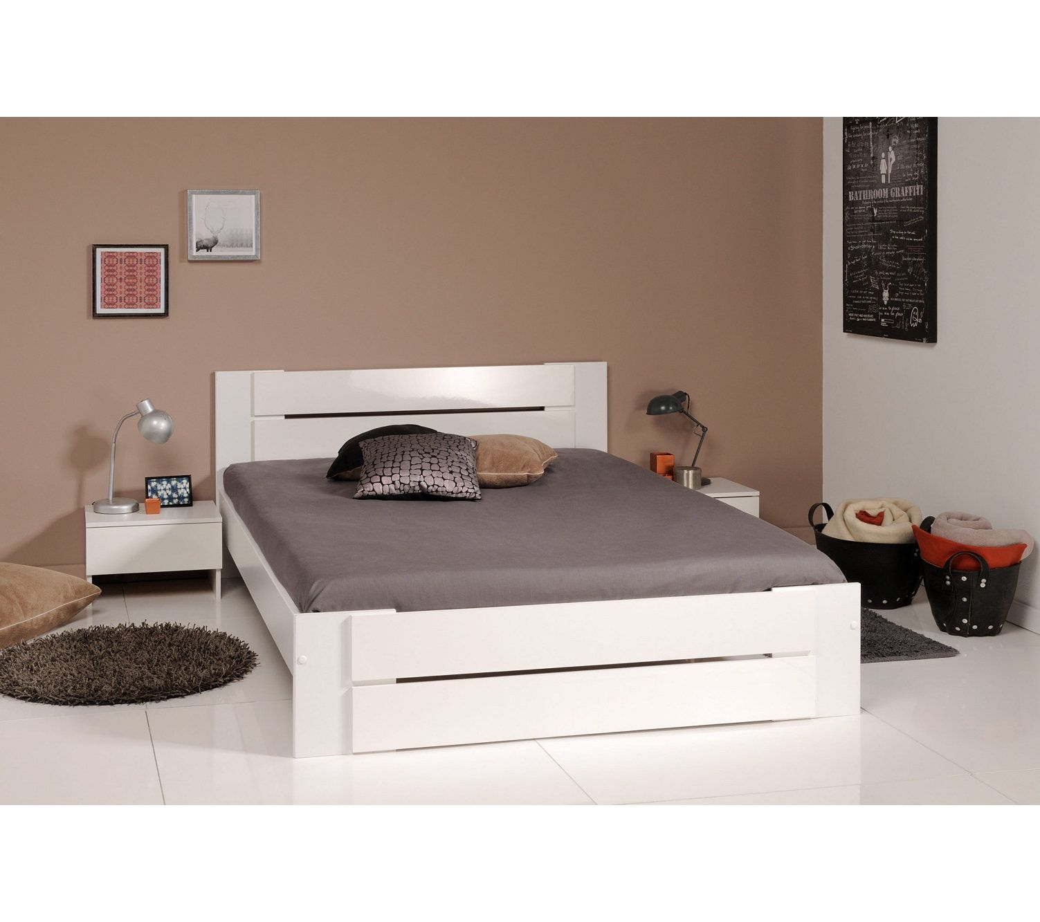 But Lit Japp Blanc Lit 140x190 Cm Bianca Blanc Home Decor Pinterest Bed