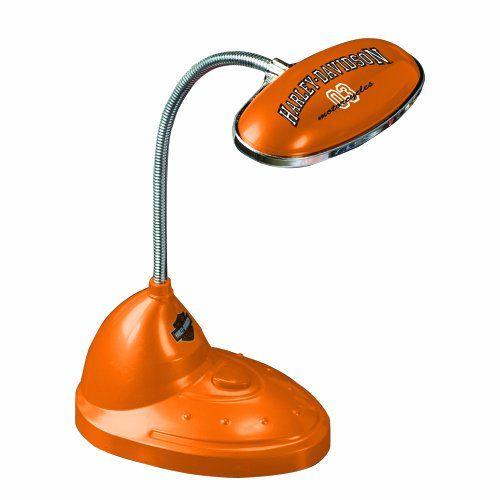 Harley Davidson LED Desk Lamp, Orange  http://bikeraa.com/harley-davidson-led-desk-lamp-orange/