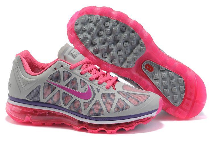 Femmes Nike Air Max 2011 Chaussures De Sport Rose Gris