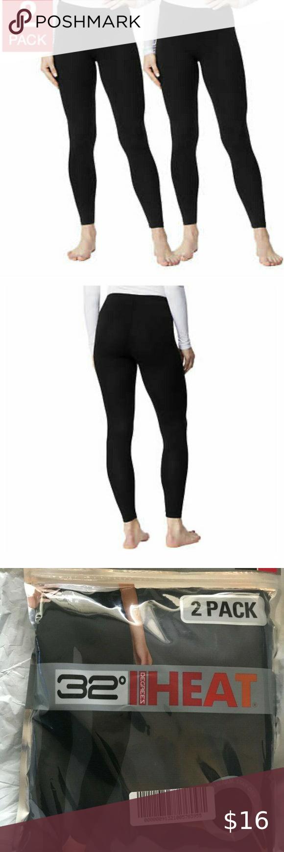 32 DEGREES Ladies Base Layer Heat Pant 2-Pack