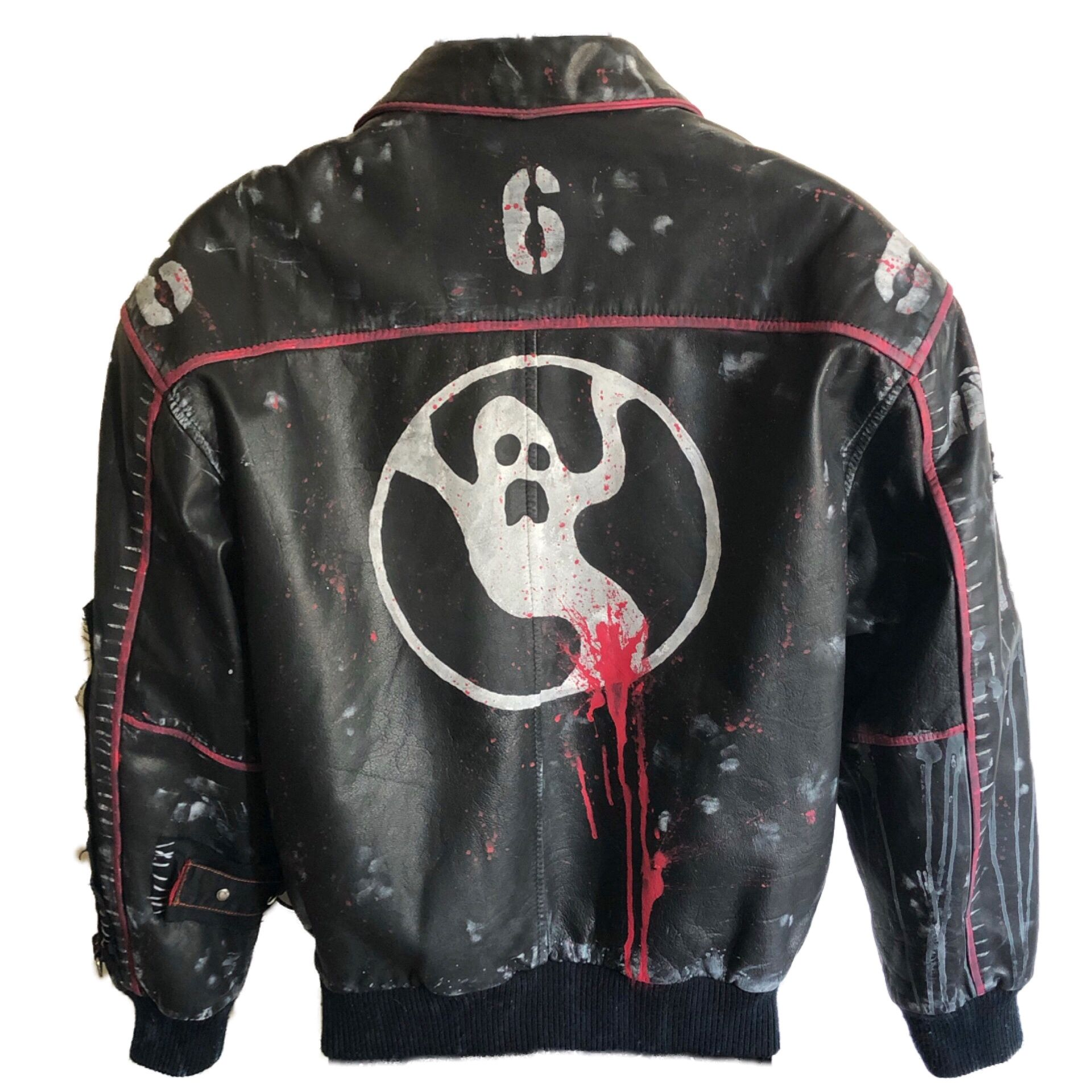 Bomber Ghost Jacket By Chad Cherry In 2021 Custom Clothes Horror Movie Clothing Jackets [ 1920 x 1920 Pixel ]