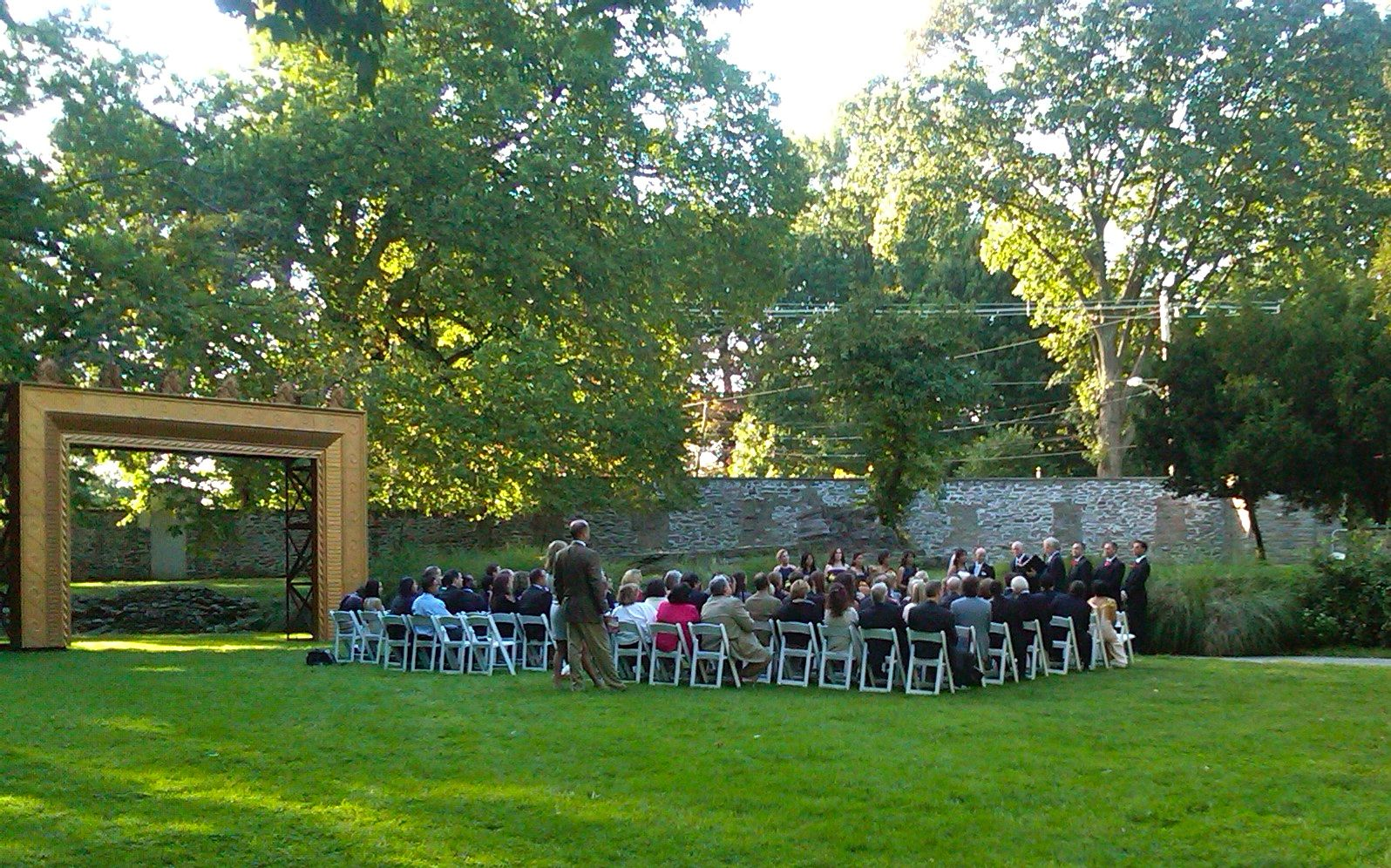 Ceremony facing Washington Lane - Sept