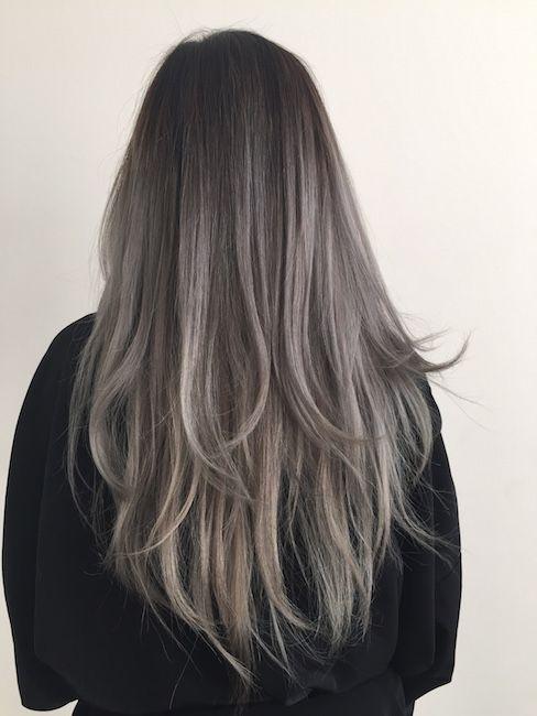 Dusty Grey Hair Google Search Hair Grey Ombre Hair