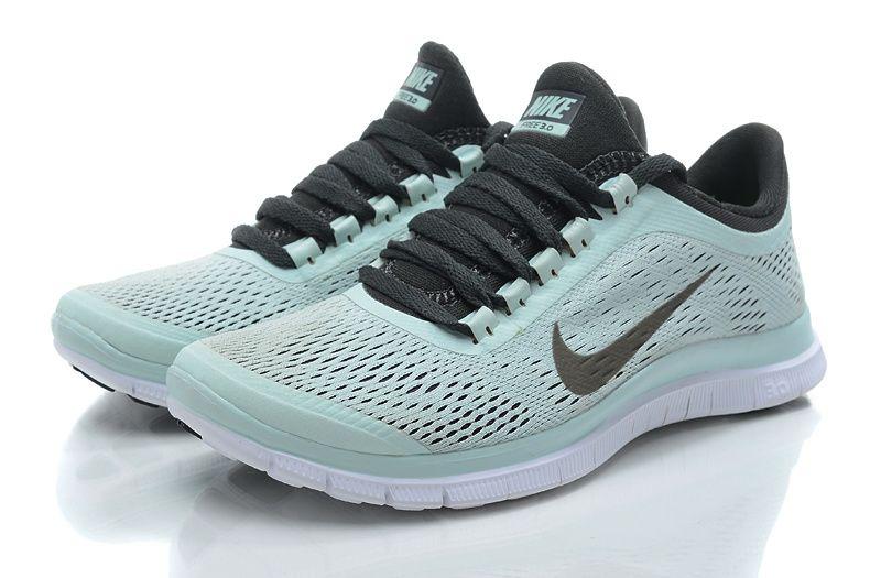 san francisco 71c59 e3029 Nike Free Run 3.0V5 bleu clair noire Femme Running