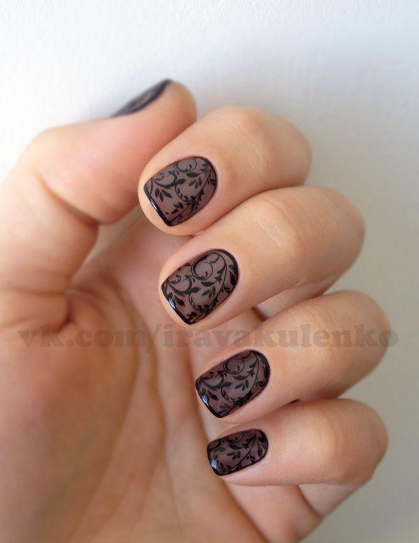 Stampimg BM-023, Nail art, Black