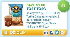 Tostitos Coupon 1 Off Tostitos Chips Free Printable Coupons Printable Manufacturer Coupons Printable Coupons