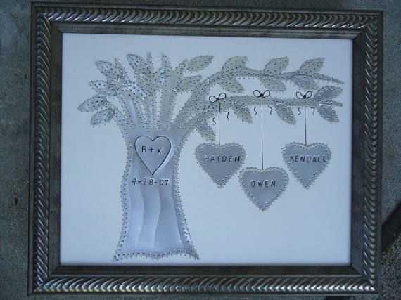 Tin Gifts For 10th Wedding Anniversary: Tin Anniversary Gift 10 Year Anniversary Gift Family Tree