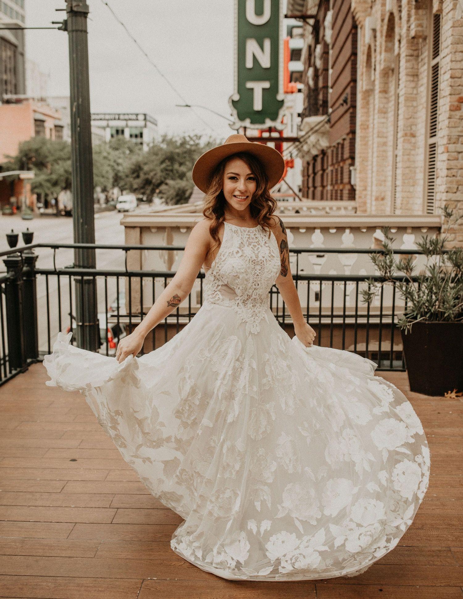 Boho Inspiration Shoot At Contemporary Austin Jones Center In Austin Tx Wedding Day Dresses Wedding Dress Inspiration
