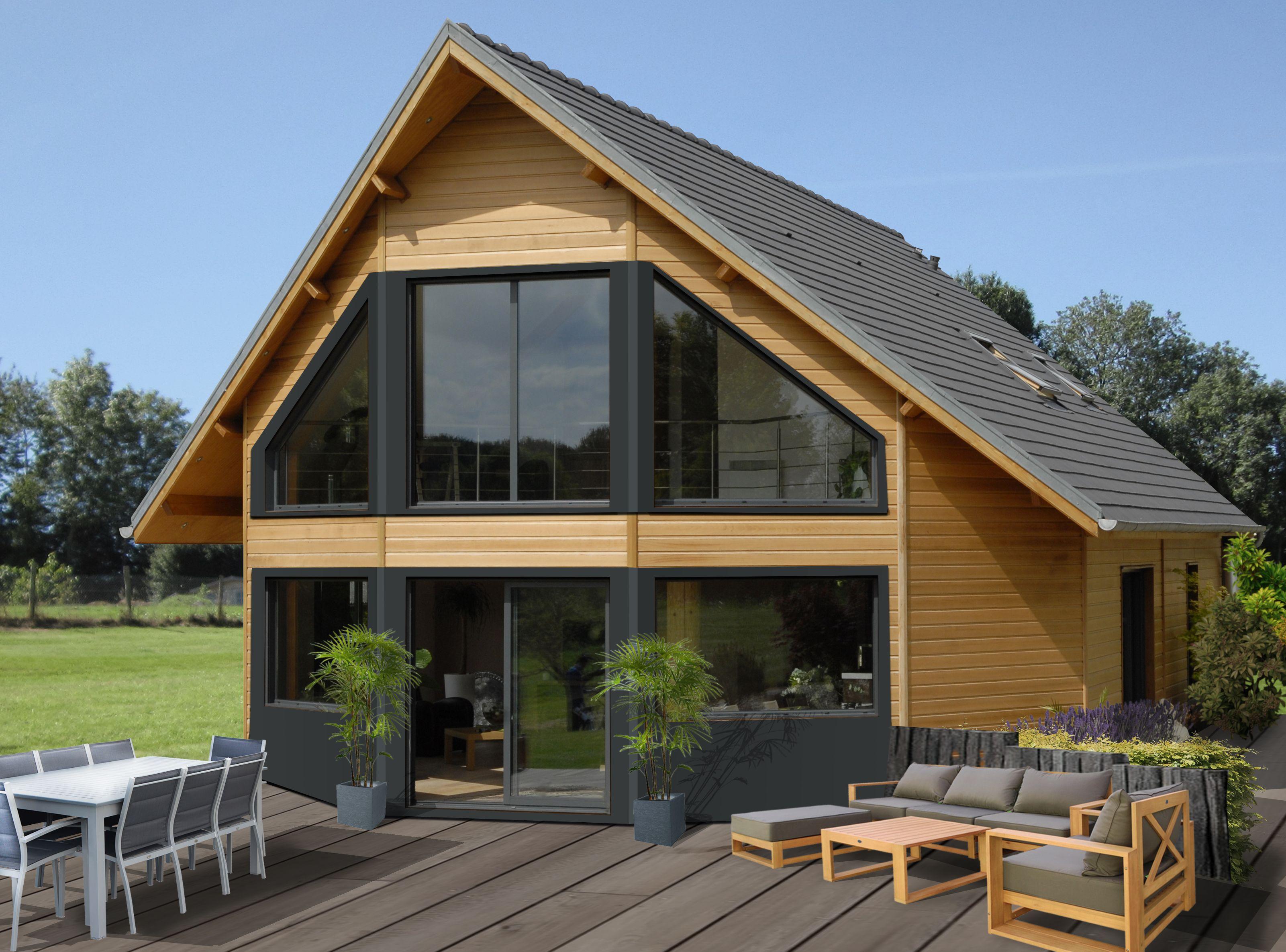 Maison demi-ronde en bois | Plan maison bois, Plan maison ossature bois, Autoconstruction maison ...