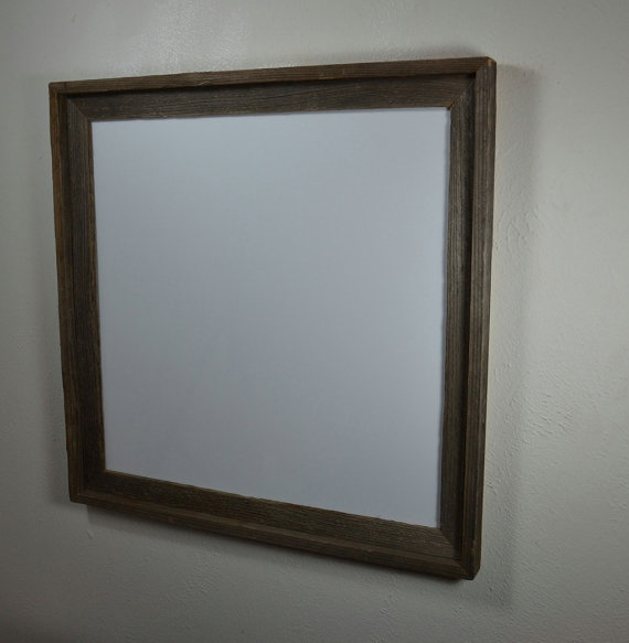 20x20 Rustic Picture Frame With Mat For 18x18 Or Custom Mat Prints